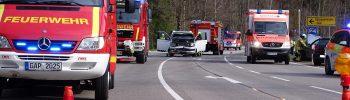 Verkehrsunfall mit mehreren PKW / B23 Oberammergau Süd